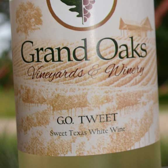 Handcrafted Texas Wine G.O. Tweet