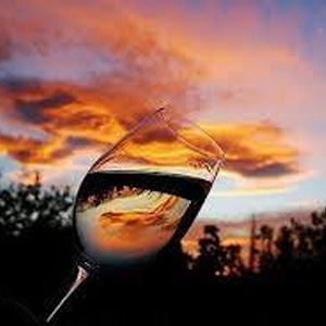 Texas Wine at Sunset