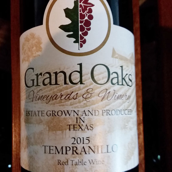East Texas Vineyard Estate Grown and Produced Tempranillo