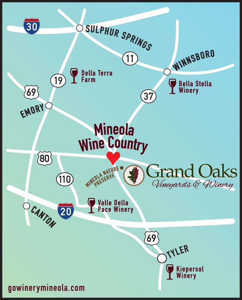 Mineola Wine Country Map
